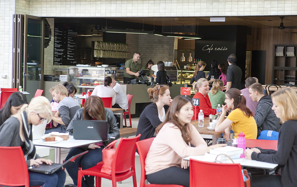 New cafe in the Campus Heart at Nathan, Cafe Rossa